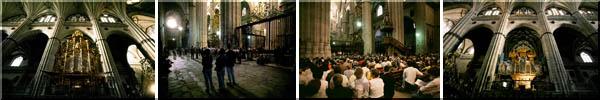 Pilar Cabrera en la Catedral Nueva de Salamanca