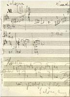 Partitura de Richard Strauss